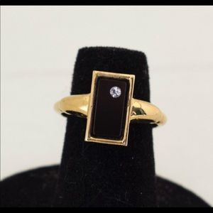 Size 7 Victorian Mourning ring.